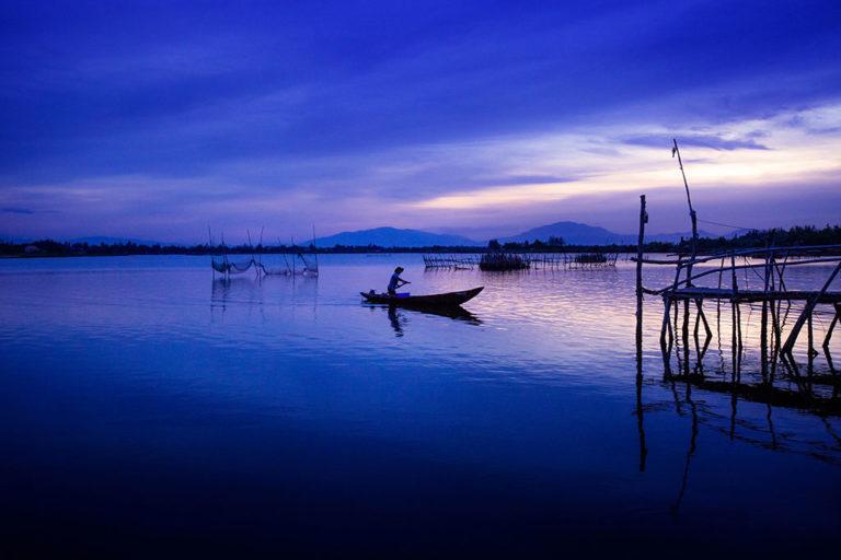Photo de l'heure bleue par Réhahn au coucher du soleil à Hoi An au Vietnam