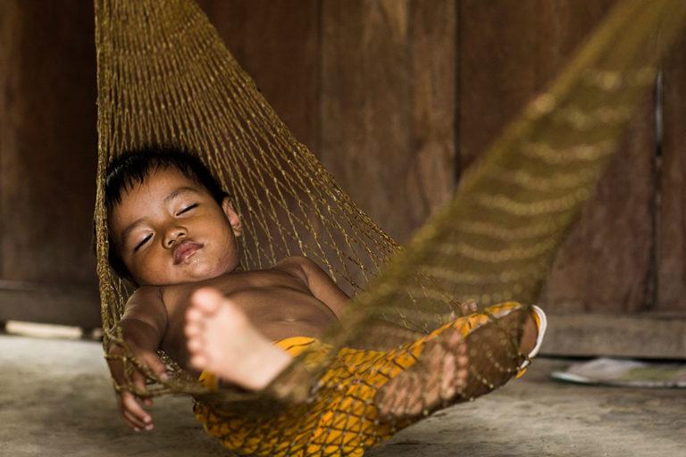 Photo du sommeil des enfants de Réhahn au Vietnam