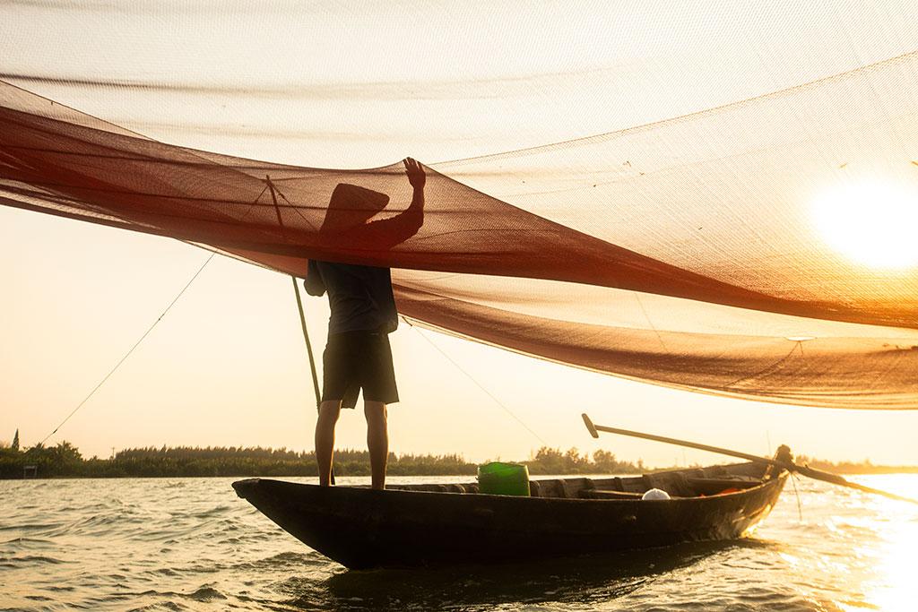 Hazel Sunset photo by Réhahn - fishing net in Hoi An Vietnam