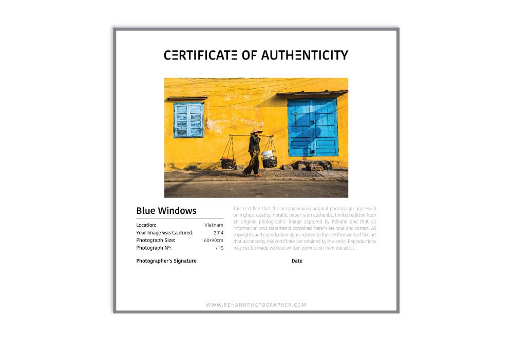 Certificat métallique