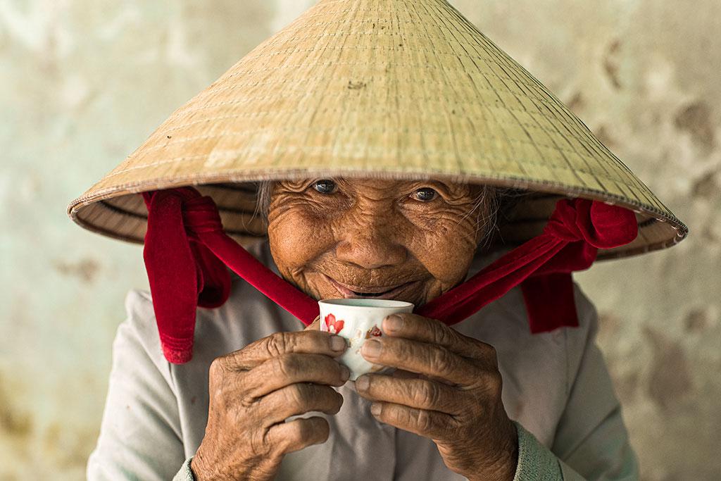 Portrait of Madam Ha in Hoi An vietnam